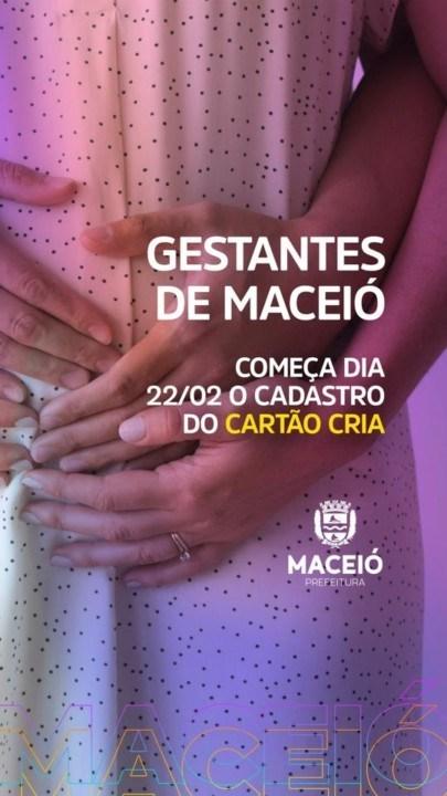 Photo of CARTÃO CRIA! Semas divulga calendário para cadastro de gestantes em Maceió