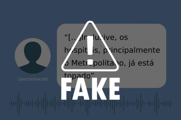 Photo of FAKE NEWS! É falso que Hospital Metropolitano de Maceió esteja lotado, como afirma áudio