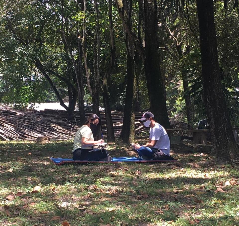 Atendimento realizado com visitantes do parque. Foto: Ascom Sudes