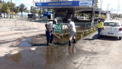 Photo of Bairros do Bom Parto, Farol e Jaraguá passam por limpeza e desobstrução de galerias