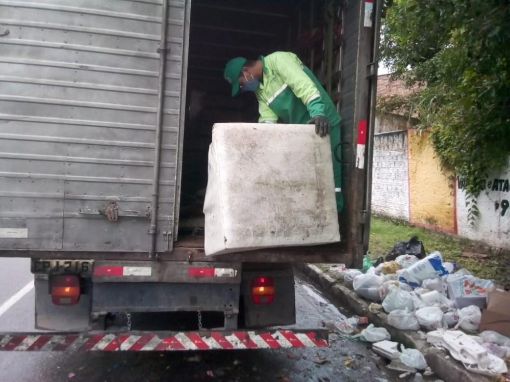 Após a solicitação do cidadão, o prazo é de sete dias úteis para que o material seja recolhido. Foto: Ascom Sudes
