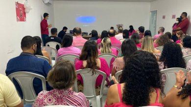 Photo of Servidores da Semscs participam de palestra sobre o Outubro Rosa